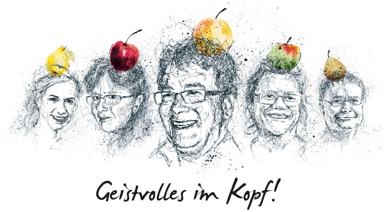 Gruppenportrait Zeichnung
