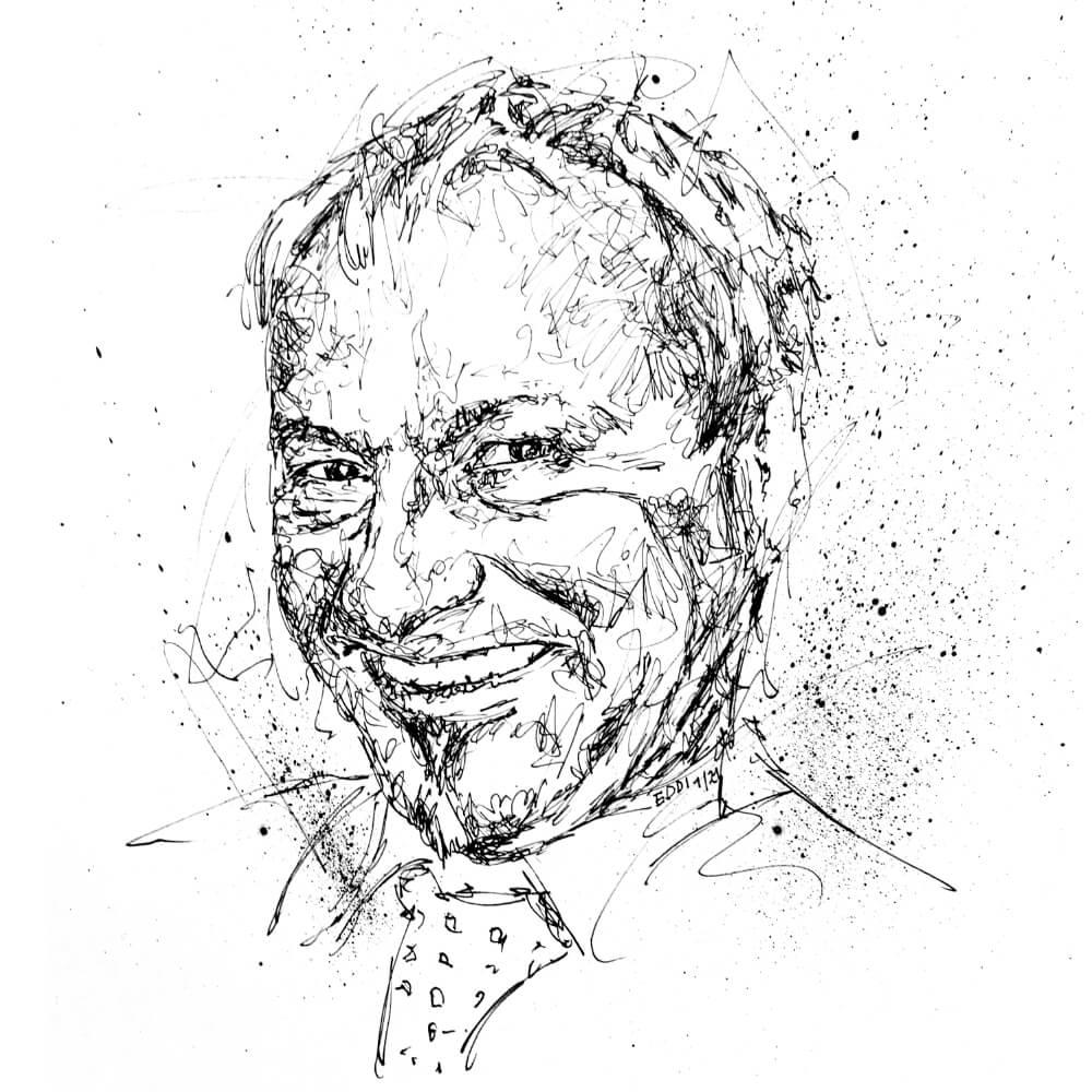 Echtes Portrait handgezeichnet