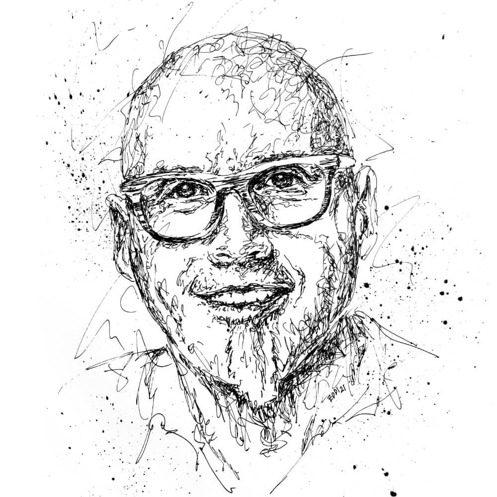 Porträtmaler – Portrait Edgar Sonnenfroh
